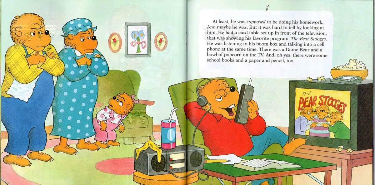 Berenstain bears homework hassle book